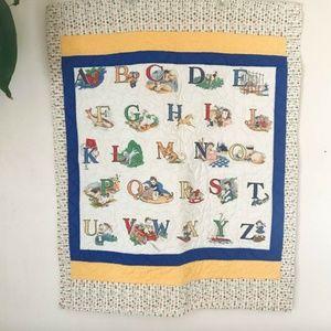 80's VTG Wall Hanging Quilt Blanket Kids Blanket
